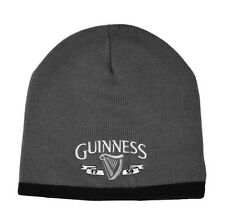 Guinness Harp Knit Hat Charcoal/Black