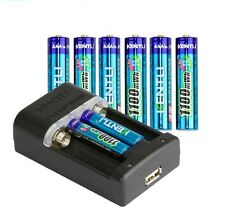 8pcs 1.5v 1100mWh AAA rechargeable li-ion polymer lithium battery + Fast charger