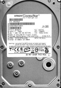 Hitachi HCS721075KLA330 pn: 0A35273 mlc: BA2772 750GB SATA  A4-09