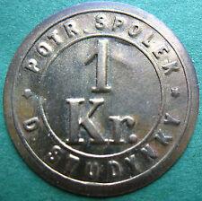 Trade token - jeton  Czech - D. Studynky - 1 Kr Co-Op