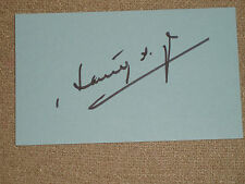 """KILLING FIELDS"" Haing S Ngor Signature on 3x5 card..Crisp and Mint..."
