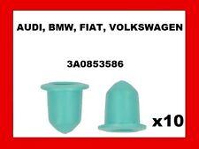 10 X DOOR MOULDING GROMMETS For AUDI, BMW, FIAT, VW - 3A0853586 - 9mm - (52)