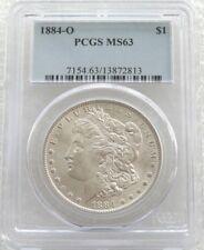 1884-o ESTADOS UNIDOS Morgan $1 Uno Dólar Moneda de Plata MS63 Nuevo Orleans