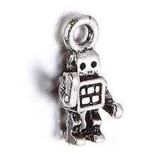 100pcs Fashion Jewelry Retro Antique Silver Show Of Hands Robot Alloy Pendant D