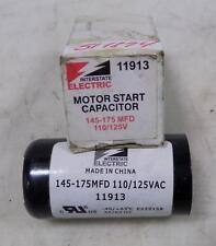 INTERSTATE ELECTRIC 110/125V MOTOR START CAPACITOR 145-175MFD / 11913 NIB