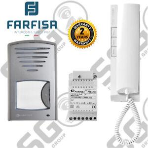 Farfisa Intercom Kit Audio Two Way Surface Mounted Entry Panel Handset 1CKSD