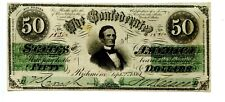 1861 50 Confederate Currency T-16