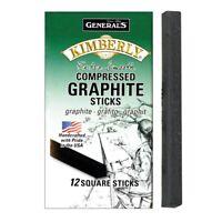 General's Kimberly Compressed Graphite Square Art Sticks - 4B  - Square Sticks,