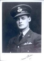SPBB36 WWII WW2 BoB RAF Spitfire Battle of Britain BROWN signed photo