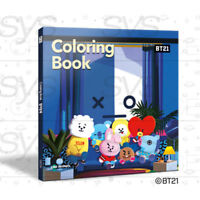 BTS BT21 Official Authentic Goods Coloring book 84P with Tracking Number