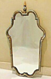 Vintage Pino de Luca Italian Classical Style Gold & Silver Gilt Wall Mirror