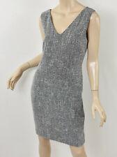 BANANA REPUBLIC Navy & White Boucle Tweed V-Neck Sleeveless Sheath Dress M 6