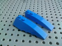 Lego Slope Curved Wedge 6x2 Left & Right [41747 & 41748] Blue x2 Pairs