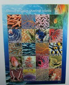 Australia  SC #360 Colors of Cocos (Keeling) Islands Marine Life Fish  MH