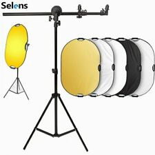 Selens Light Reflector + Photo Holder Bracket Panel Arm Support w/ Light Stand