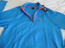 BRAND NEW Mens UNDER ARMOUR STORM 1/4 Zip Fleece Lined Blue/Pink LG FREE SHIP