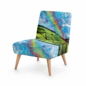 Rainbow Reflection Designer Occasional Chair, Handmade to order Sustainable Wood