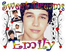"""AUSTIN MAHONE Personalized PILLOWCASE """"SWEET DREAMS"""" #2 Any NAME Super Soft"""