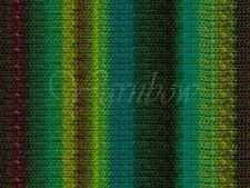 NORO ::Kureyon #332:: wool knitting yarn Lime-Teal-Greens-Wine-Nut