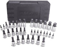 TACKLIFE Master Hex Bit Socket Set, 35 Pcs Metric and SAE Allen Socket Set, 1 4