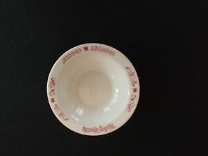 Wedgwood China SURREY SOUP PLATES Rimmed Bowls Rust Red Yellow Floral 4 Pc