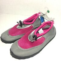 Girls Water Shoes by West Loop Kids Youth Sz Medium 2 / 3 Pink Gray