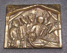 Bronze Reliefbild -Krippe. 60/70er Jahre