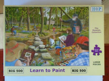 H O P LEARN TO PAINT 500 LARGE PIECE JIGSAW PUZZLE - COMPLETE - VERY GOOD COND.