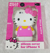 Hello Kitty High Quality Silicone Case for iPhone 5/5S Pink & Yellow Color