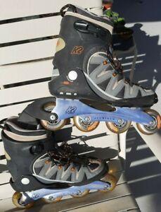 K2 FLIGHT ALX-M Roller Blades  Inline Skates  US Size 10 EUR 43.5  Aluminum