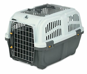 Skudo Open Top Pet Transport Carrier Box for Cats Dogs Small Animals (Standard)