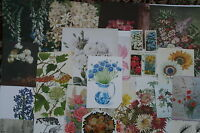 Job lot of ephemera, collage pack, c. 25 pieces, FLOWERS