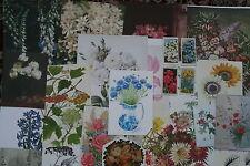 Job lot of ephemera, collage pack, c. 25 pieces, FLOWERS