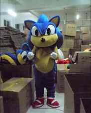 Brand New Sonic Mascot Costume Cartoon Fancy Dress Adult Size Holloween Suit