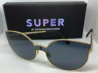 RetroSuperFuture Lenz Lucia Black Sunglasses Super 9VW size 56mm NIB