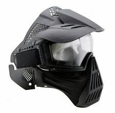 Adjustable Airsoft Shot Wargame Painball Full Face Gas Mask Goggles Protector BK