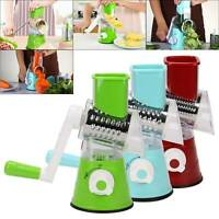Useful Vegetables Fruit Cutter Manual Drum Slicer Shredders  Multi-function