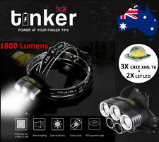1800Lumens 3X(T6)LED + 2X(LST)LED Bright Head Light Lamp Torch Head-lamp