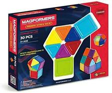 New MAGFORMERS Rainbow BUILDING BLOCK SET 30 Piece Magnetic Solid Geometric NIB