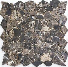 Marmor Bruchmosaik uni Castanao Fliesenspiegel Küche Art: 44-30-180 | 10 Matten