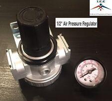 "1/2"" Air Compressor Regulator Industrial Grade W/ Pressure Gauge + Mount Bracket"