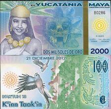 MAYA YUCATANIA 2000 2,000 MIL SOLES DE ORO 2012/2013 FANTASY POLYMER