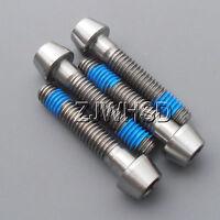 4pcs M6 x 30 mm Titanium Ti Screw Bolt Allen Hex Taper Socket Cap Head + Blue