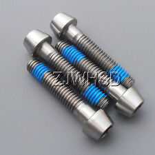 4pcs M6 x 30 mm Titanium Ti Screw Bolt Allen Hex Taper Socket Cap Head + Blue
