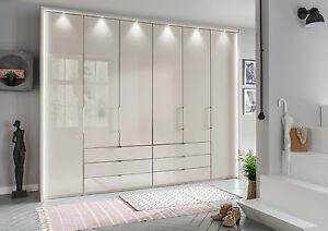 GERMAN LUXURY 6 DOOR WARDROBE BEDROOM FITTED FREE WHITE GREY GRAPHITE GLASS 2