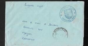 RHODESIA, 1977 BUSH WAR COVER, WITH ARMY OFFICIAL FREE CACHET IN PURPLE,