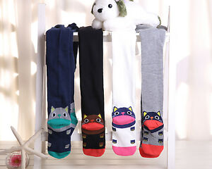 Fashion Girl Kid Pantyhose Stocking Tights hose with Cute Cat Foot Bottom M Size