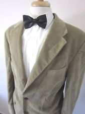 Chaps Ralph Lauren Cotton Corded Beige Mens 3 button blazer Jacket size 44R