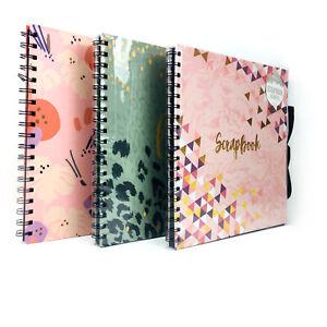 Scrapbook Photo Album Family Memory Display Book  Wiro Bound 40 Sheet Gift