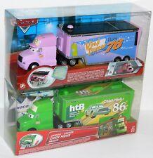 Disney Pixar Cars #76 Vinyl Toupee Hauler + #86 Chick Hicks Hauler New Sealed